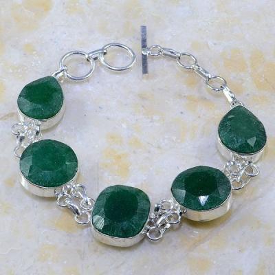 Em 0426a bracelet emeraude argent 925 achat vente bijoux