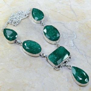 Em 0430a collier parure sautoir emeraude bijou argent 925 achat vente