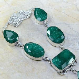 Em 0430c collier parure sautoir emeraude bijou argent 925 achat vente