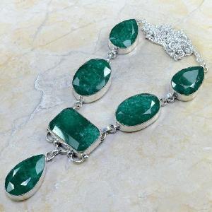 Em 0430d collier parure sautoir emeraude bijou argent 925 achat vente