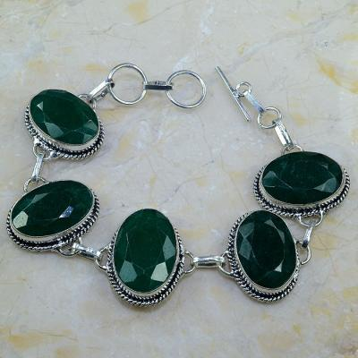 Em 0431a bracelet emeraude argent 925 achat vente bijoux