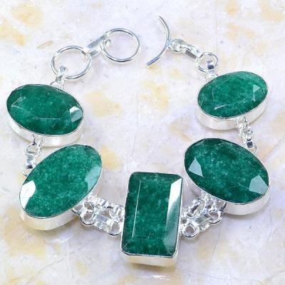 Em 0434a bracelet emeraude argent 925 achat vente bijoux