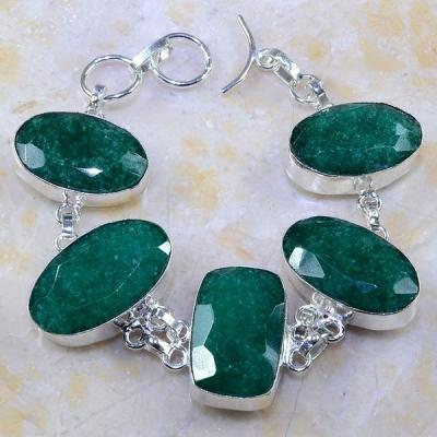 Em 0437a bracelet emeraude argent 925 achat vente bijoux