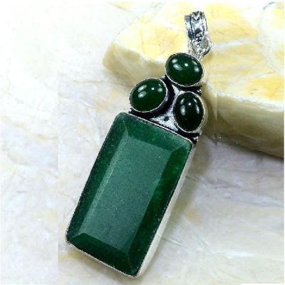 Em 0442a pendentif emeraude emerald lithotherapie gemme argent 925 achat vente bijoux