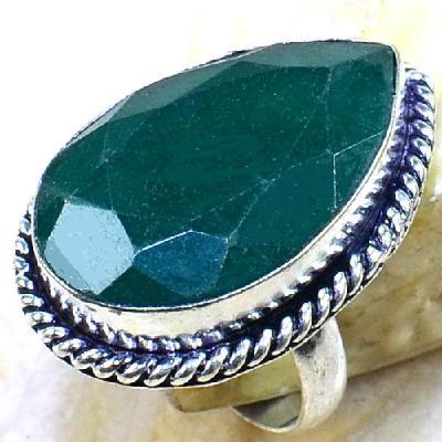 Em 0450a bague t57 emeraude bijou argent 925 achat vente