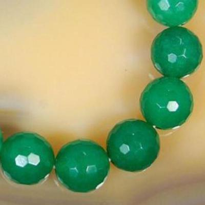 Em 0478b perles 10mm emeraude bolivie facettees loisirs creatifs achat vente creation bijoux