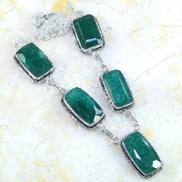 Em 0487a collier parure sautoir emeraude bresil achat vente bijoux ethniques