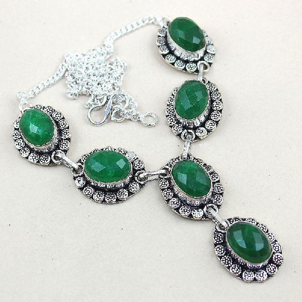 Em 0493a collier parure sautoir emeraude bresil bijou argent 925 achat vente