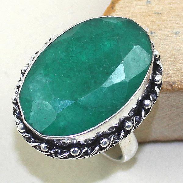 Em 0494a bague chevaliere medievale t58 emeraude bijou argent 925 achat vente