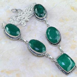Em 0511a collier parure sautoir emeraude bresil bijou argent 925 achat vente