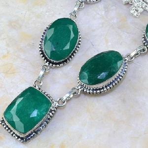 Em 0511b collier parure sautoir emeraude bresil bijou argent 925 achat vente