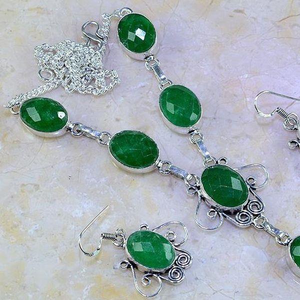 Em 0526a parure collier boucles oreilles emeraude bresil achat vente bijoux ethniques