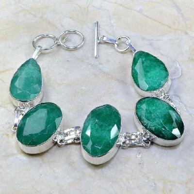 Em 0605a bracelet emeraude argent 925 achat vente bijou