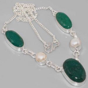 Em 0617a collier parure sautoir emeraudes perles achat vente bijoux 1