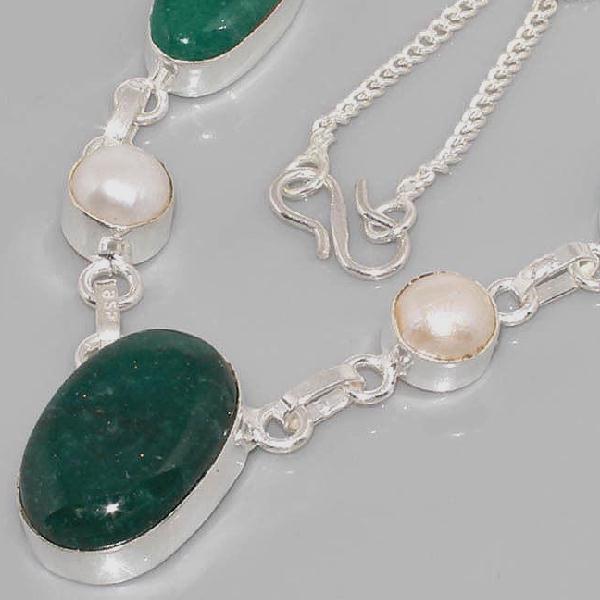 Em 0617b collier parure sautoir emeraudes perles achat vente bijoux 1