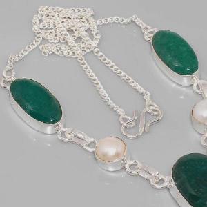 Em 0617c collier parure sautoir emeraudes perles achat vente bijoux 1