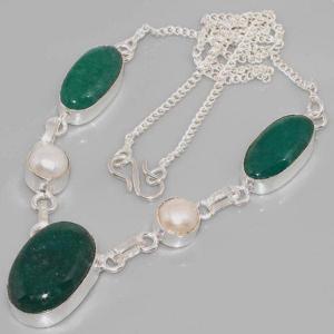 Em 0617d collier parure sautoir emeraudes perles achat vente bijoux 1