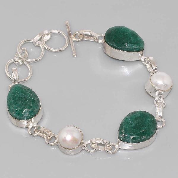Em 0618a bracelet emeraude argent 925 achat vente bijou