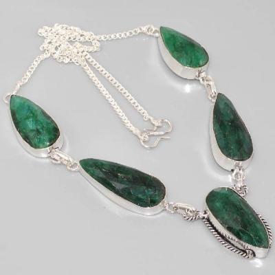 Em 0624a collier parure emeraude achat vente bijou argent 925