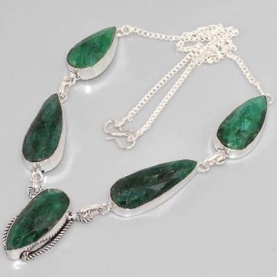 Em 0624d collier parure emeraude achat vente bijou argent 925