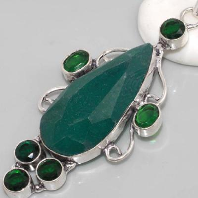 Em 0627c pendentif emeraude emerald lithotherapie gemme argent 925 achat vente bijoux
