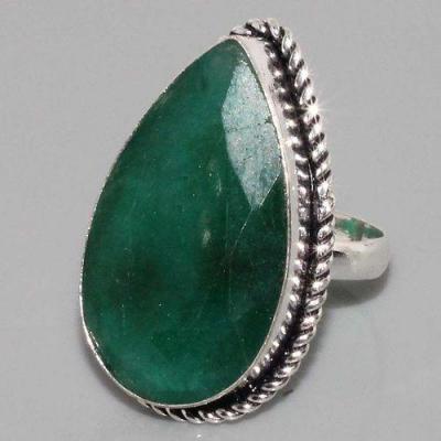 Em 0636a bague chevaliere t62 emeraude amande argent 925 achat vente bijou 1 1
