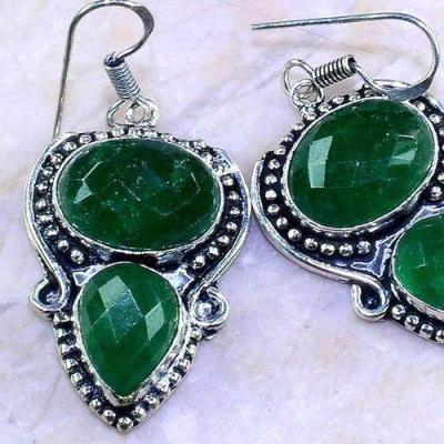 Em 0641c boucles oreilles emeraudes medieval achat vente bijoux argent 925 1 1
