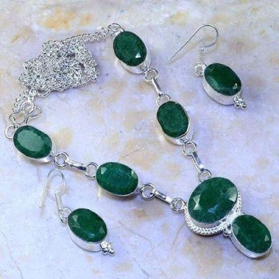 Em 0645a parure collier boucles emeraudes achat vente bijoux argent 925 1 1