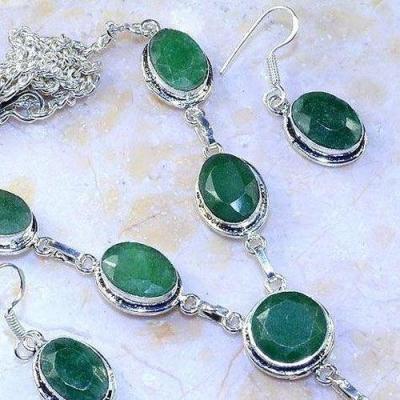 Em 0647c parure collier boucles emeraudes achat vente bijoux argent 925 1 1