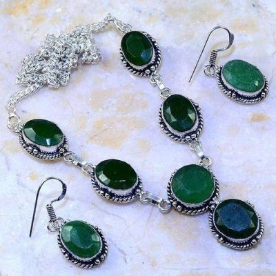 Em 0652a parure collier boucles emeraudes achat vente bijoux argent 925 1 1