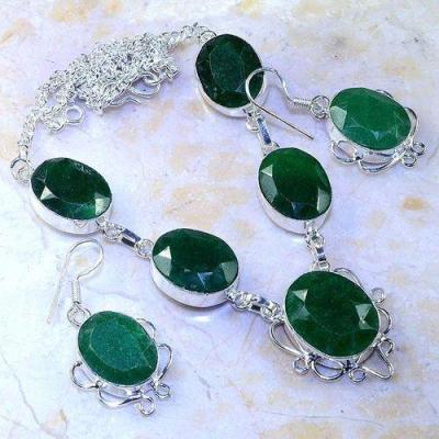 Em 0653a parure collier boucles emeraudes achat vente bijoux argent 925 1 1