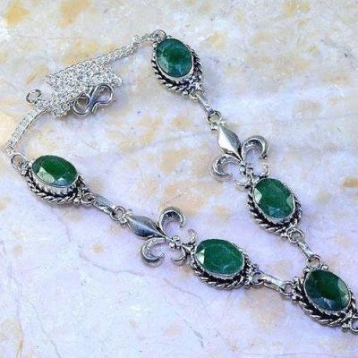 Em 0655c collier parure sautoir emeraude fleur de lys achat vente bijoux argent 925 1 1