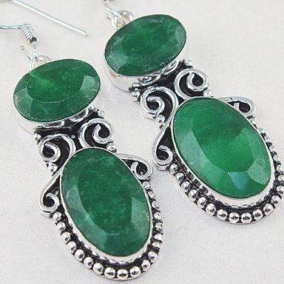 Em 0706c boucles oreilles emeraudes medieval achat vente bijoux argent 925 1 1