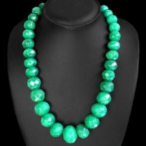 Em 0719a collier parure sautoir 10x15mm emeraudes facette achat vente bijoux argent 925