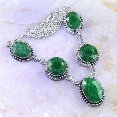 Em 0721a collier parure sautoir emeraudes achat vente bijoux argent 925 1 1