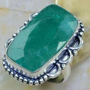 Em 0736a bague chevaliere t59 emeraude argent 925 achat vente bijou