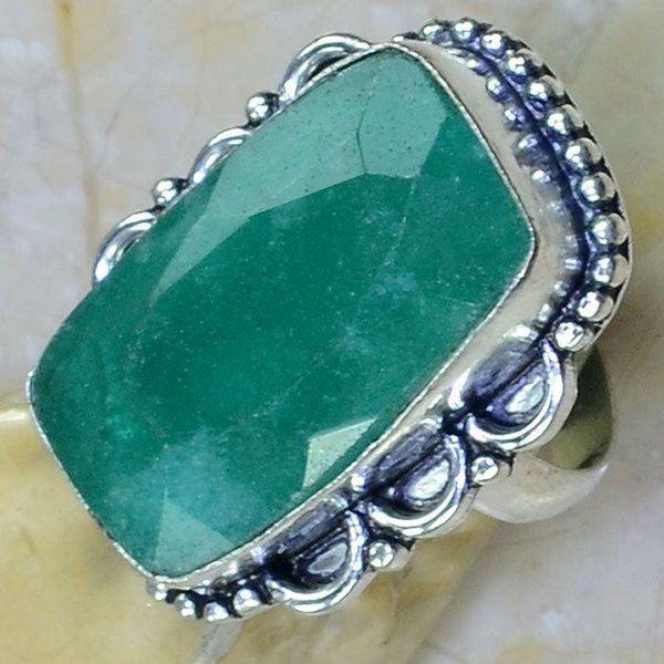 Em 0736c bague chevaliere t59 emeraude argent 925 achat vente bijou