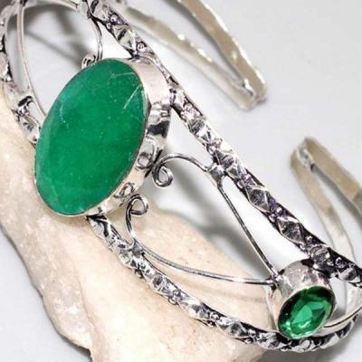 Em 0759b bracelet torque emeraude 18x26mm argent 925 achat vente bijou