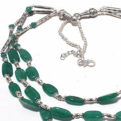Em 0775c collier parure sautoir emeraudes 3 rangs 53gr achat vente bijoux argent 925 1 1