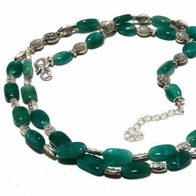 Em 0787b collier parure sautoir emeraudes 10x12mm 2 rangs 42gr achat vente bijoux argent 925 1 1