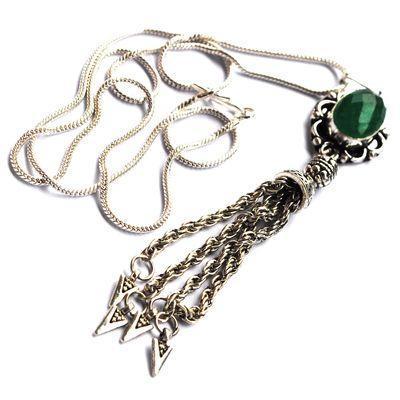 Em 0801c pendentif chaine oriental emeraude argent 925 achat vente bijoux
