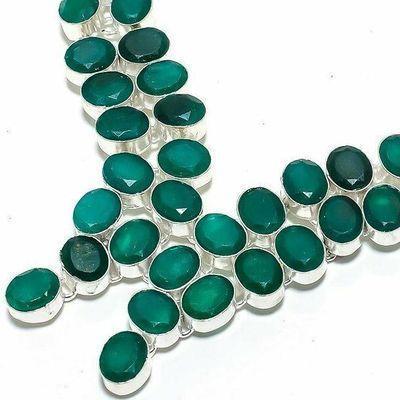 Em 0942b collier parure emeraude rubis 68gr 8x10mm achat vente bijou argent 925