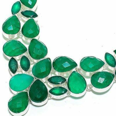 Em 0943b collier parure emeraude rubis 66gr 12x18mm achat vente bijou argent 925