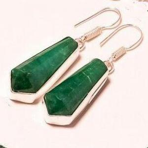 Em 0944b collier boucles oreilles emeraude rubis 150gr 10x30mm achat vente bijou argent 925