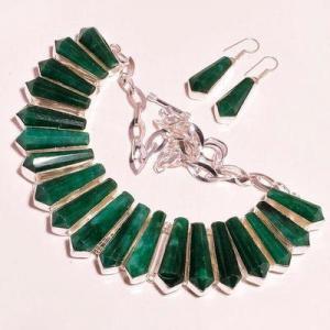 Em 0944c collier boucles oreilles emeraude rubis 150gr 10x30mm achat vente bijou argent 925