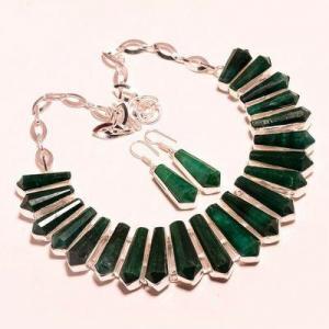 Em 0944d collier boucles oreilles emeraude rubis 150gr 10x30mm achat vente bijou argent 925