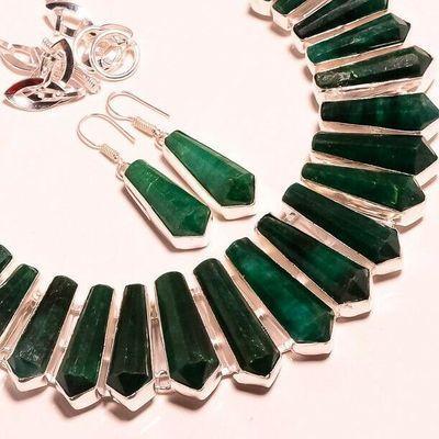 Em 0944e collier boucles oreilles emeraude rubis 150gr 10x30mm achat vente bijou argent 925