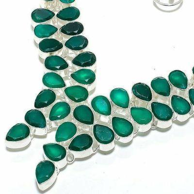 Em 0957b collier parure emeraude facettees 62gr 8x10mm achat vente bijou argent 925