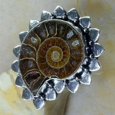 Fs 1028c bague t59 fossile ammonite achat vente pierre naturelle collection prehistoire