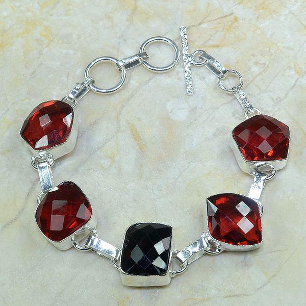 Gr 0035a bracelet grenat argent 925 achat vente bijou